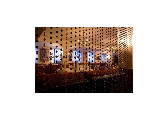Декоративная занавеска из бисера и стекляруса